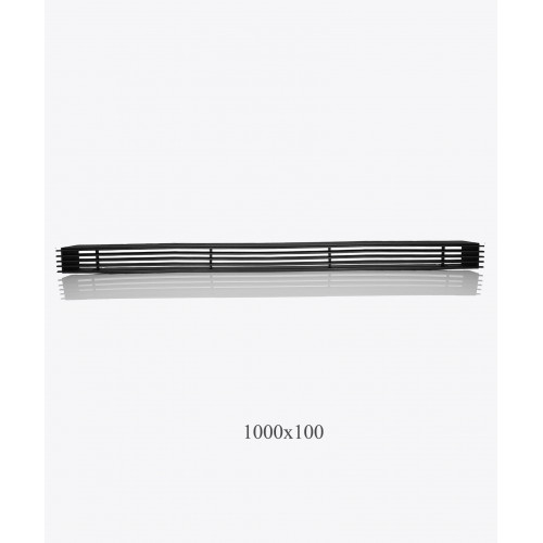 Решітка металева Loft 1000х100мм, чорна
