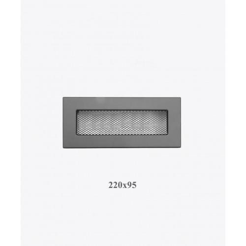 Решітка VENTLAB 220x95, сітка, чорна