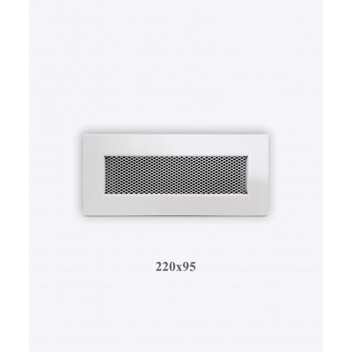 Решітка VENTLAB 220x95, сітка, біла