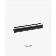 Решітка для каміна тунельна V-OPEN 700х100 чорна