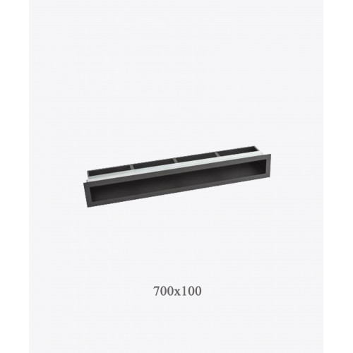 Решетка для камина туннельная V-OPEN 700х100 хром