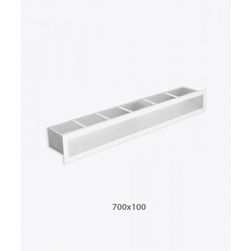 Решетка для камина туннельная V-OPEN 700х100, белая