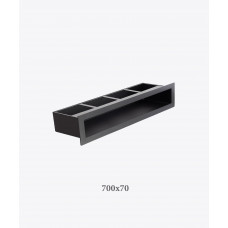 Решітка для каміна тунельна V-OPEN 700х70 чорна