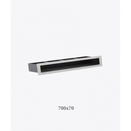 Решітка для каміна тунельна V-OPEN, 700х70, хром