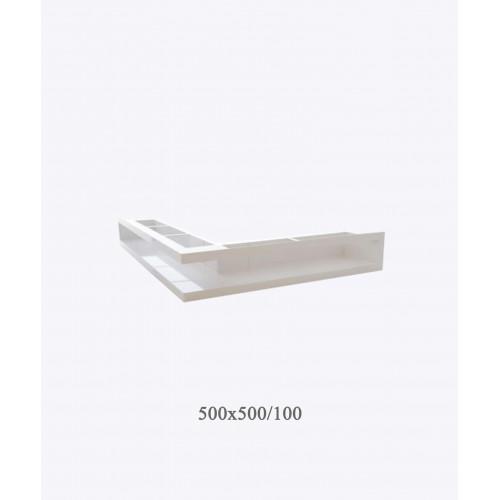Вентиляційна решітка V-OPEN-L 500х500х100, біла