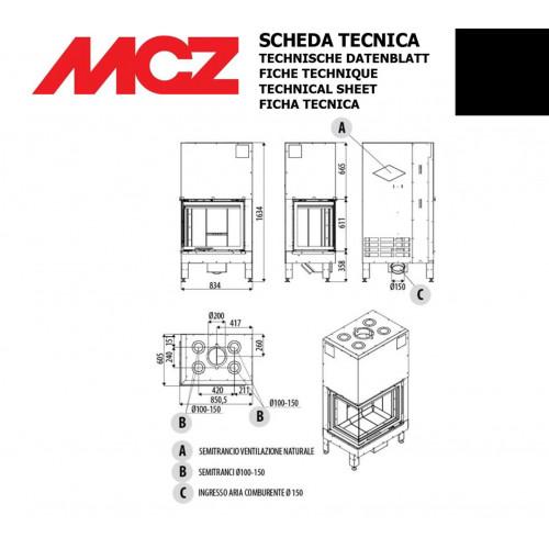 Камінна топка MCZ PLASMA 75 DX / SX