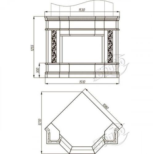 Каминный портал Браво Милано