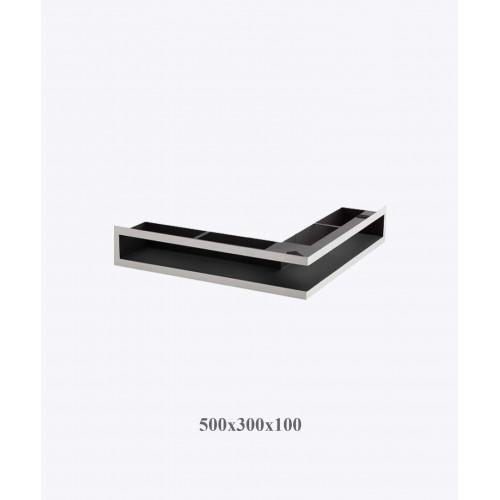 Вентиляційна решітка V-OPEN-L 500х300х100, хром