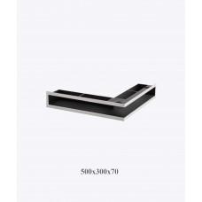 Вентиляционная решетка V-OPEN-L 500х300/70, хром