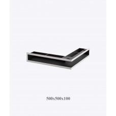 Вентиляционная решетка V-OPEN-L 500х500х100, хром