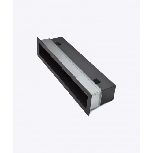 Решітка для каміна V-OPEN-I тунельна, чорна, 450х100мм