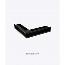 Решітка кутова V-OPEN, 500х300 / 100, чорна