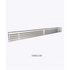 Решетка металлическая Loft 1000х100мм, белая