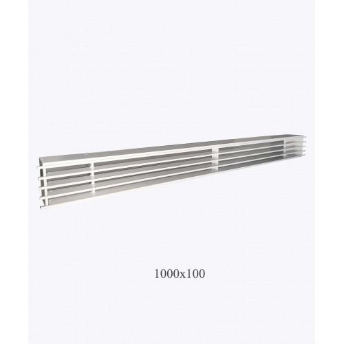 Решітка металева Loft 1000х100мм, біла