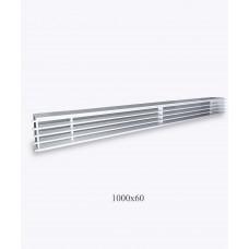 Решетка металлическая Loft 1000х60мм, белая
