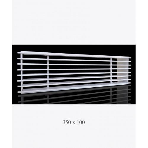 Металлическая решетка Loft белая, 350х100мм