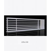 Решетка металлическая Loft, 650х100мм, белая