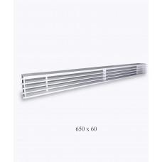 Решетка металлическая Loft, 650х60 белая