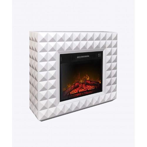 Каминокомплект ArtiFlame DIAMOND AF23, белый бьянко