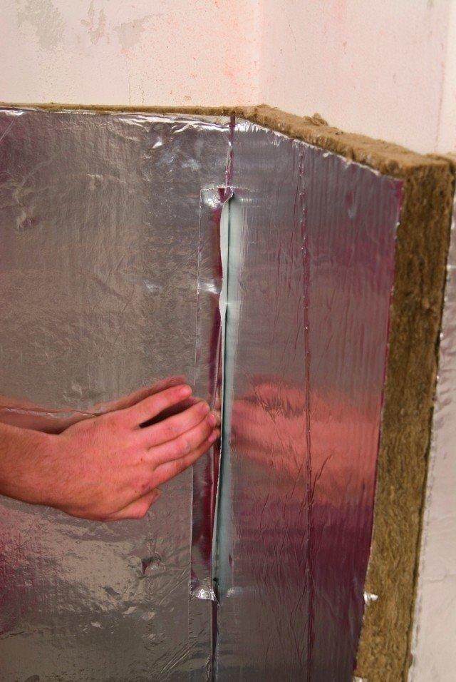 камін з системою опалення ізоляція стіни