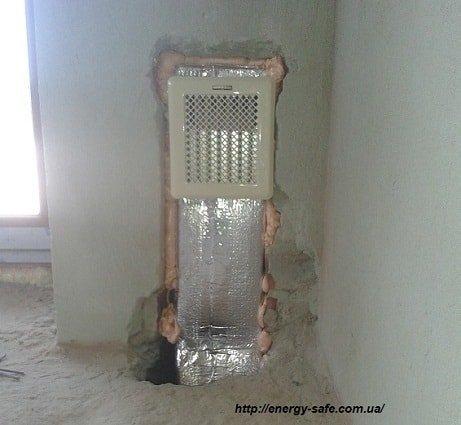 подача воздуха в комнату